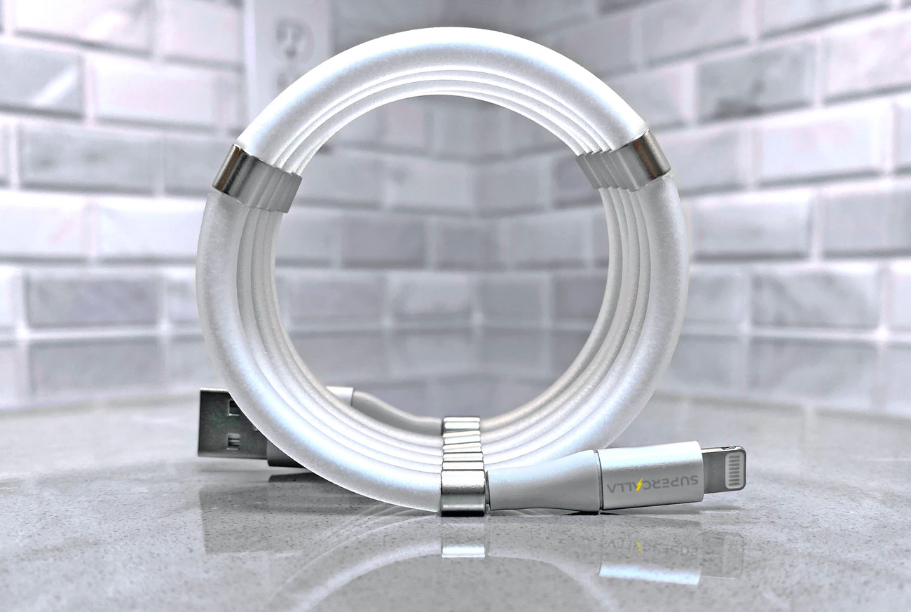 SuperCalla Charging Cables Practically Coil Themselves at werd.com