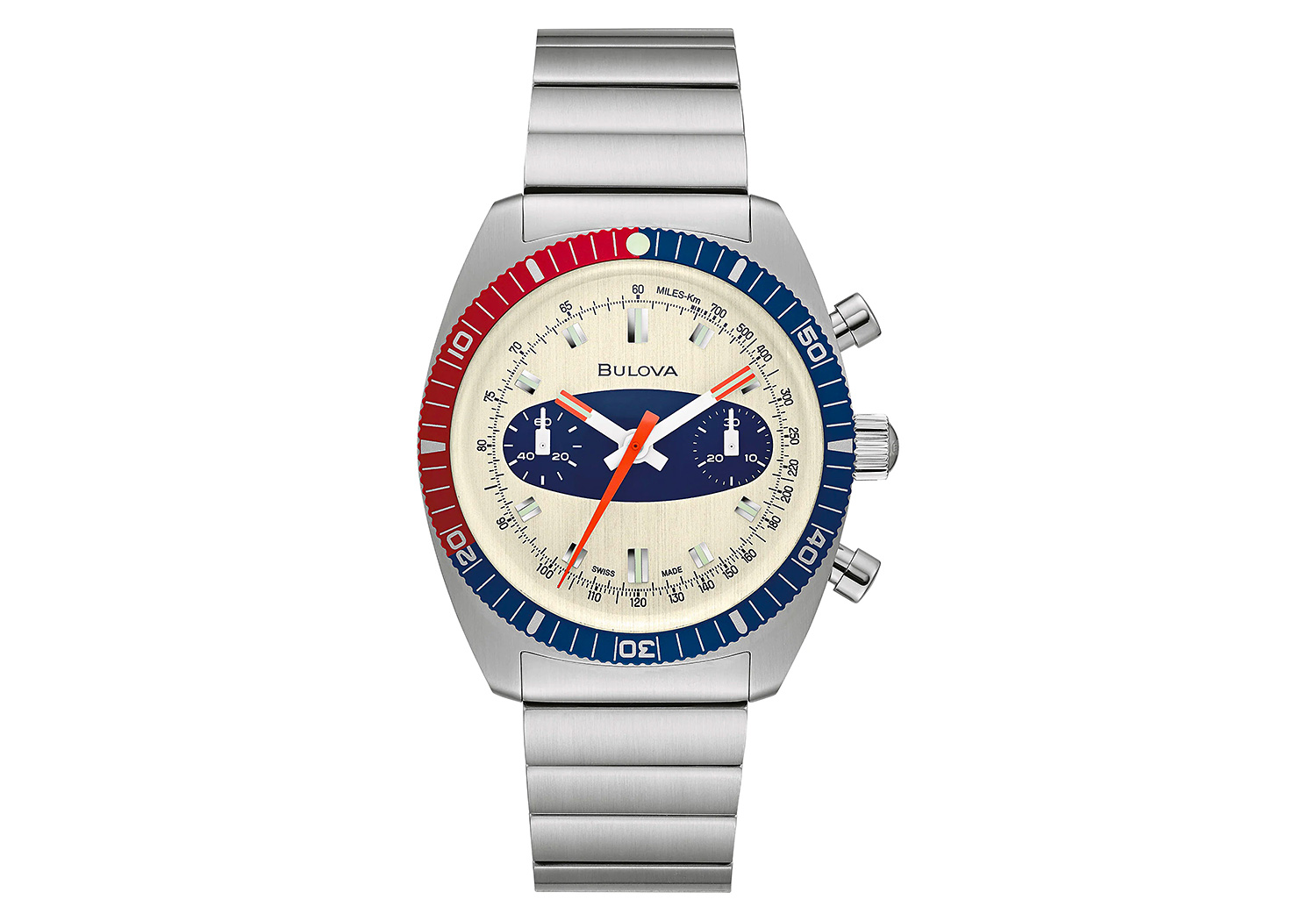 "Bulova Re-Creates a Classic with the Chronograph A ""Surfboard"" at werd.com"