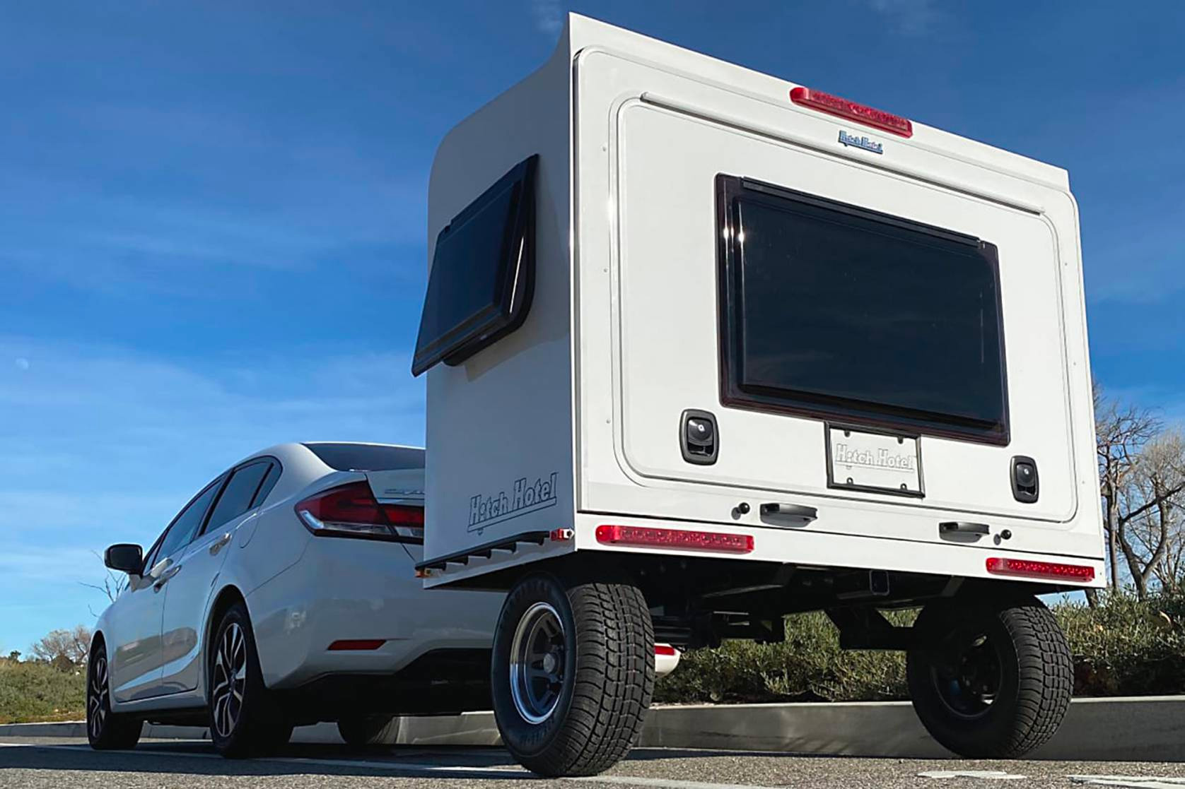 The Hitch Hotel Traveler is a Super Compact Camper at werd.com