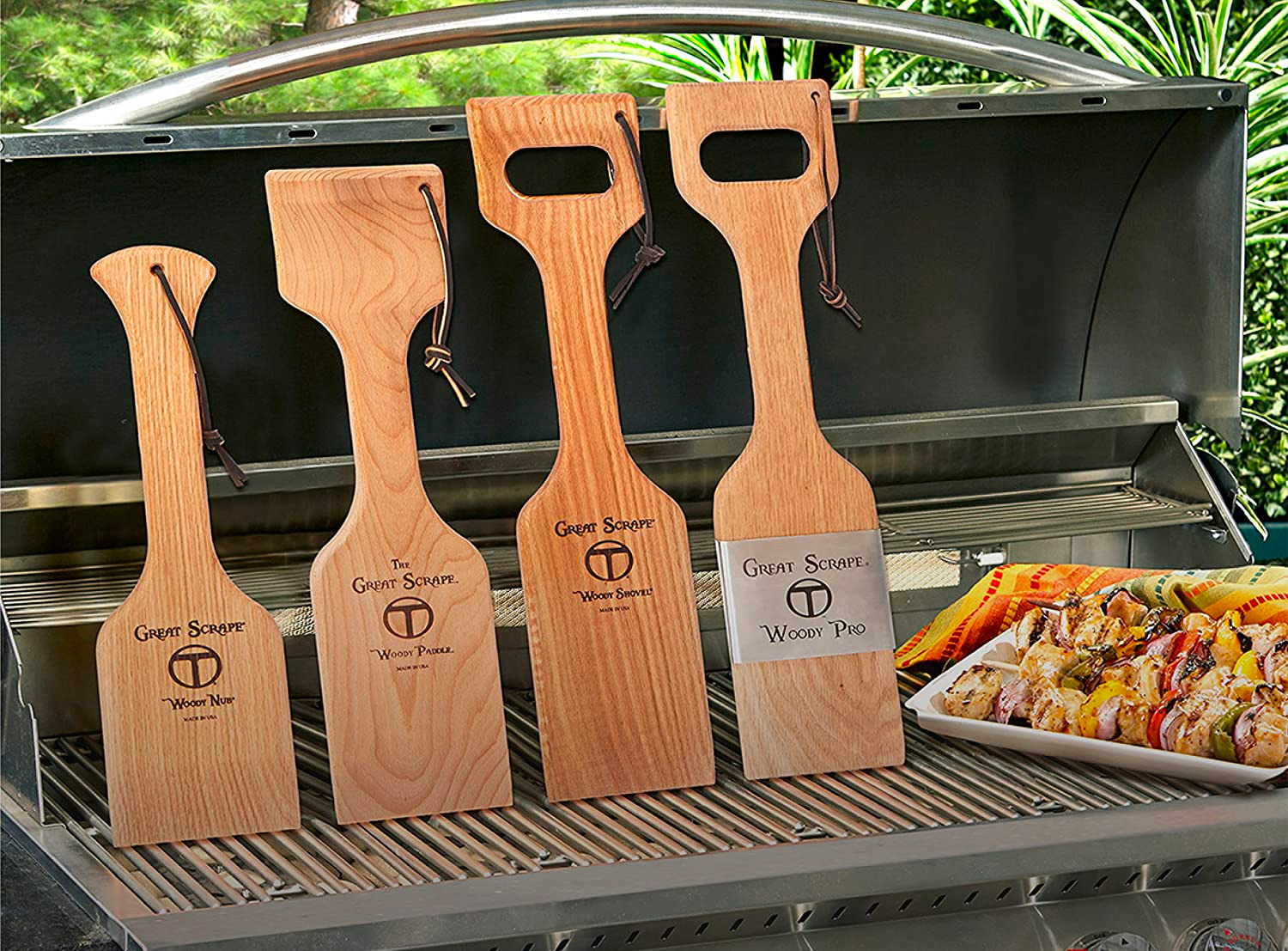 Keep Your Grill Clean with a Natural Woody Scraper at werd.com