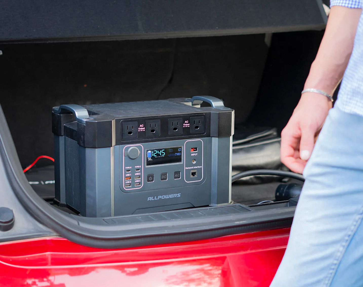 The Monster X Portable Power Station Can Charge a Car at werd.com