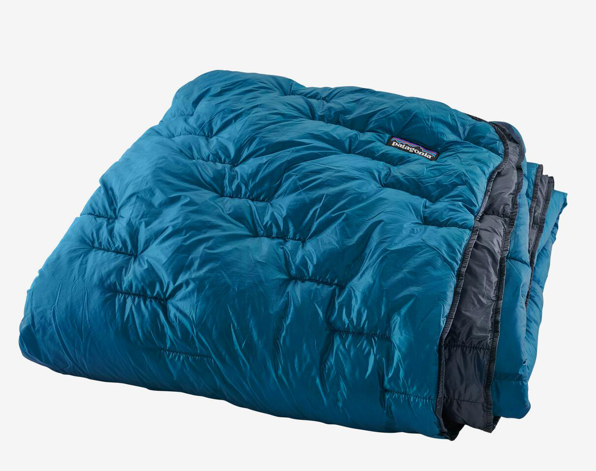 Keep Cozy Anywhere with Patagonia's Weatherproof Macro Puff Blanket at werd.com