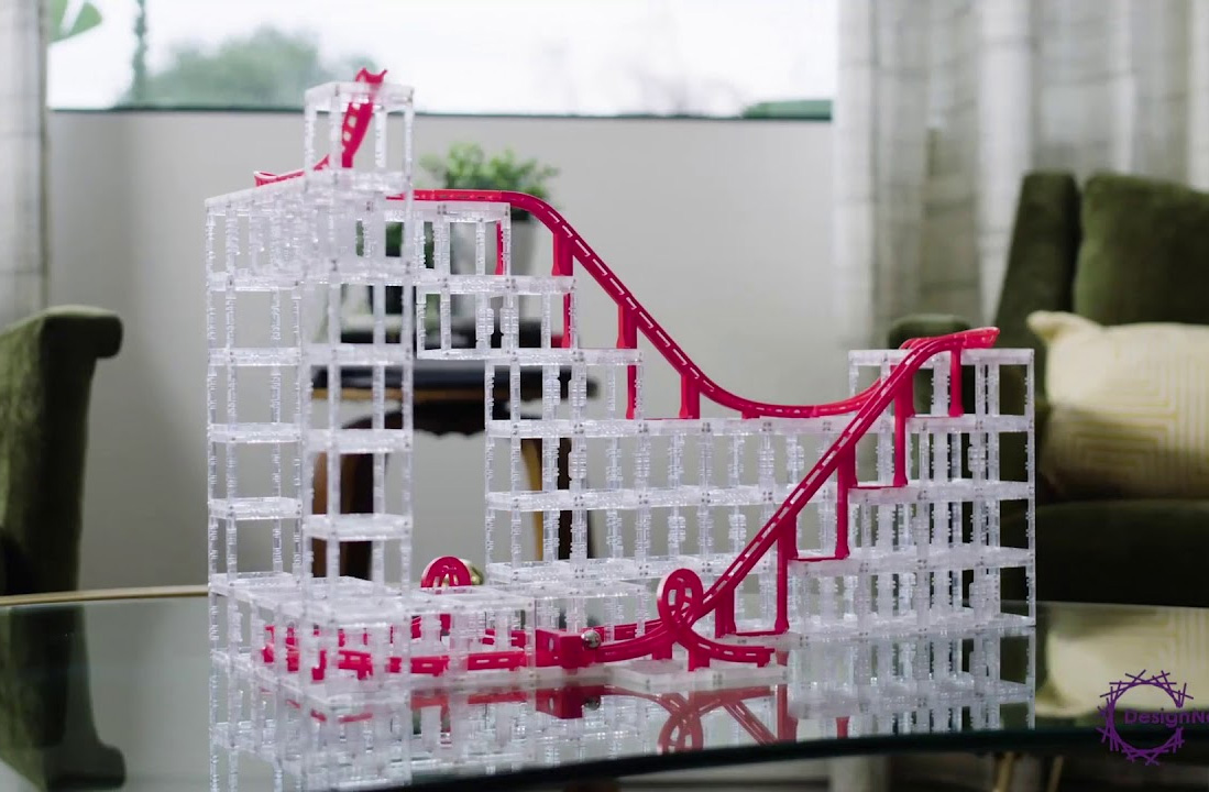 Build a Radical Rollercoaster on Your Coffee Table with MagnetCubes at werd.com