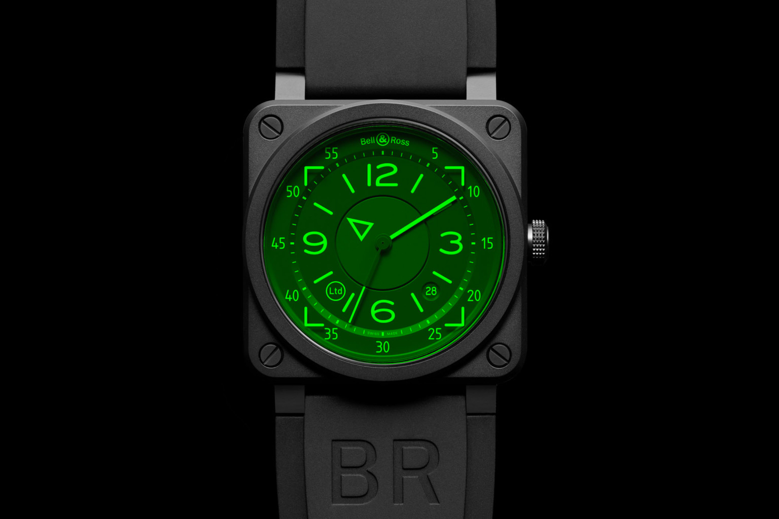 Bell & Ross Introduce Aviation-Inspired BR 03-92 HUD Automatic at werd.com