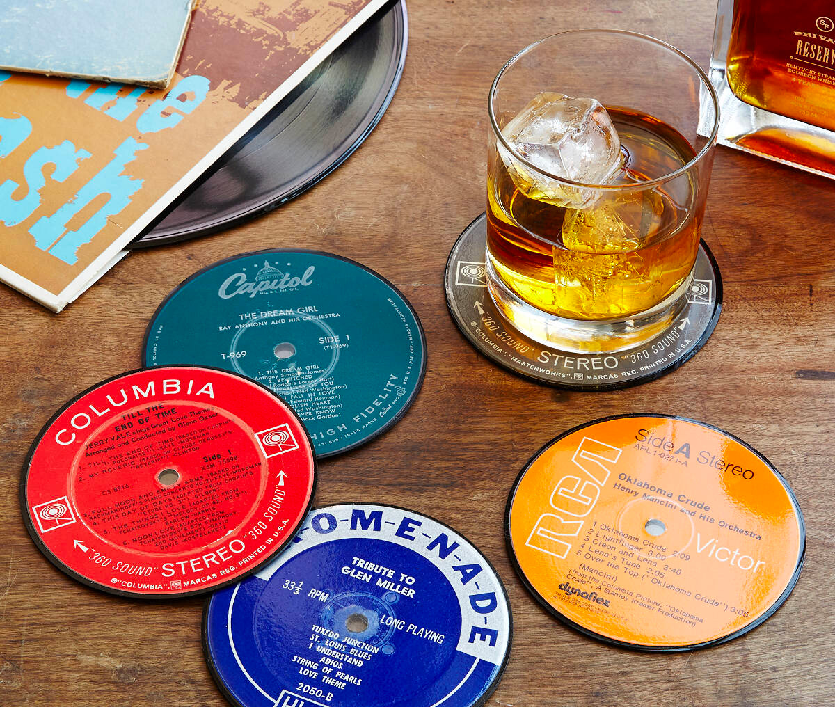 Upcycled Record Coasters Mix Vinyl with Your Favorite Drink at werd.com
