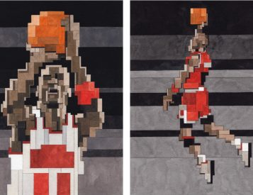 These Geometric Jordan Artist Prints are a Slam Dunk