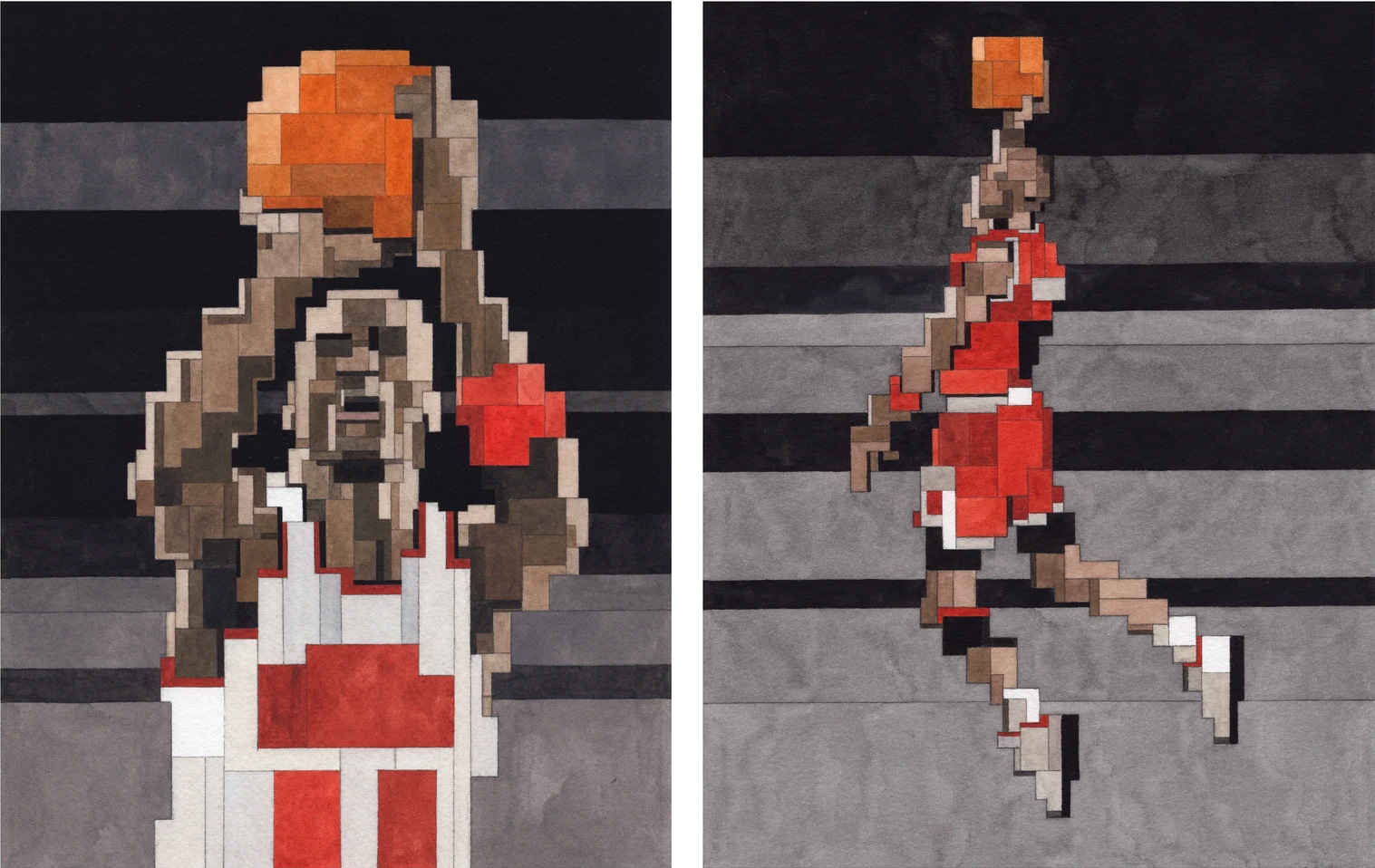 These Geometric Jordan Artist Prints are a Slam Dunk at werd.com