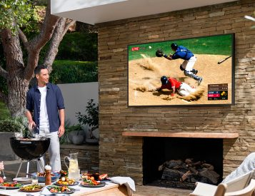 Samsung Brings QLED Outside with Weatherized Terrace TV