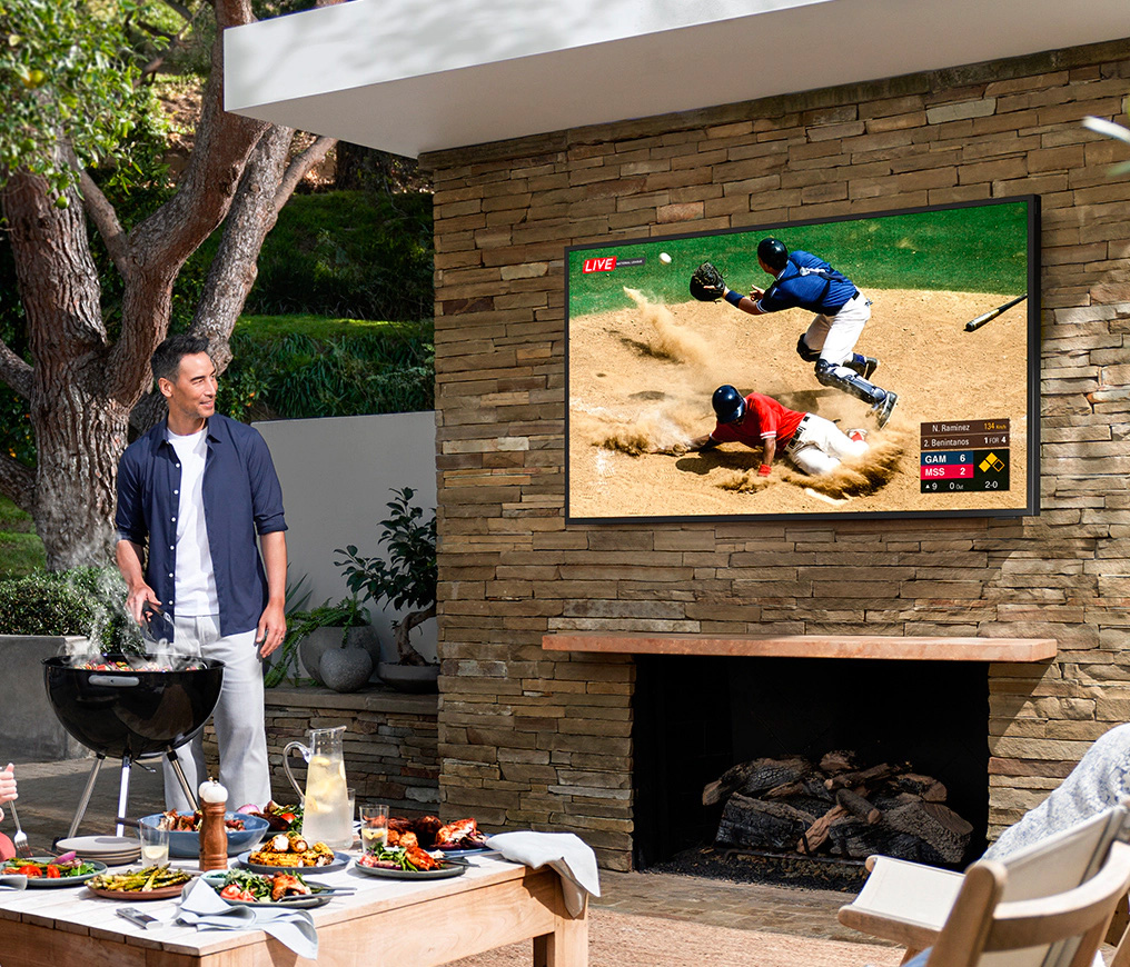 Samsung Brings QLED Outside with Weatherized Terrace TV at werd.com
