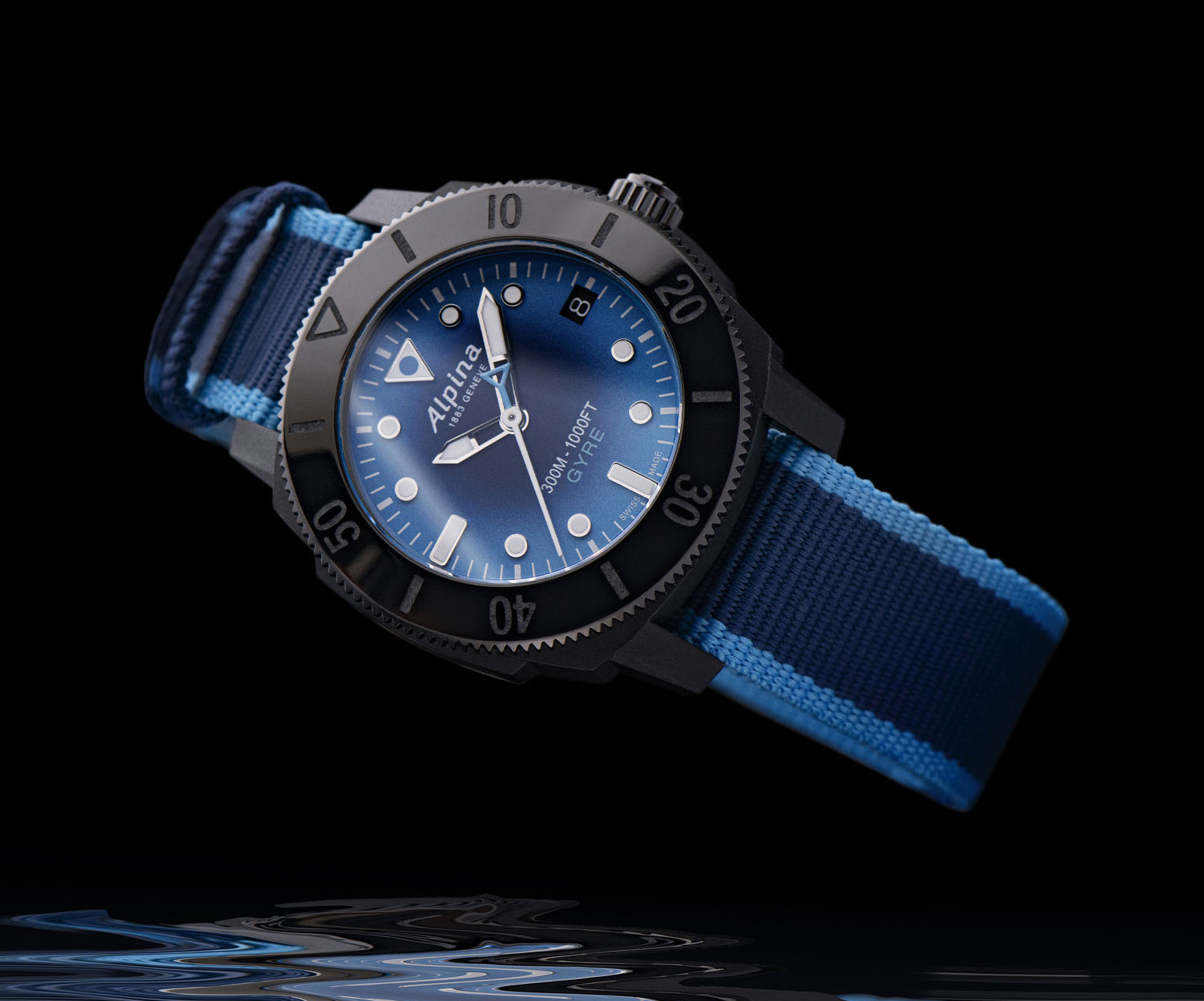 Alpina Creates Seastrong Gyre Diver from Recycled Ocean Plastics at werd.com