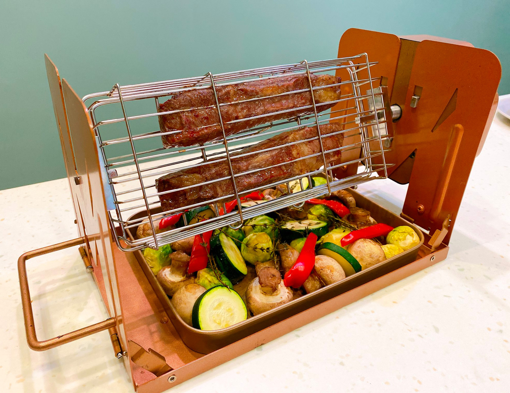 The Roto-Q 360 is the World's First Non-Electric Rotisserie at werd.com