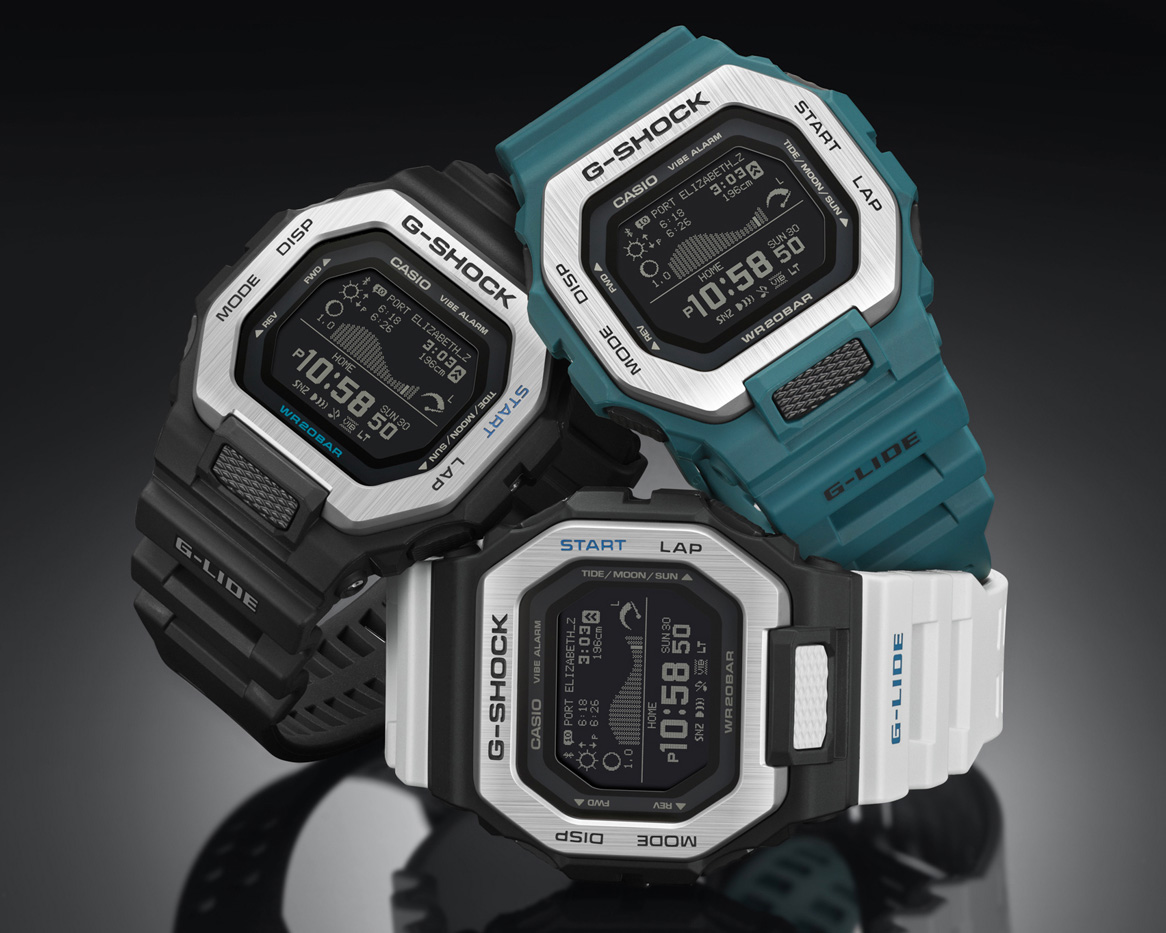 This New G-Shock Let's You Know When It's Surf Time at werd.com