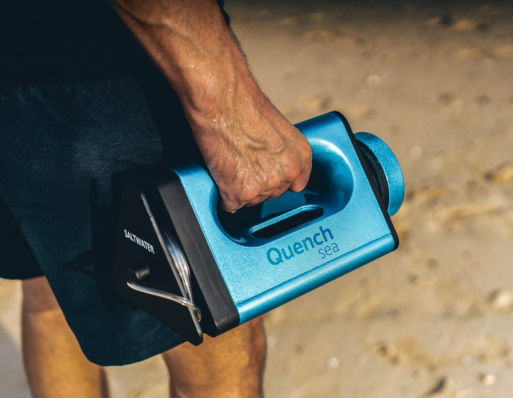 The QuenchSea Desalinator Makes Seawater Drinkable at werd.com
