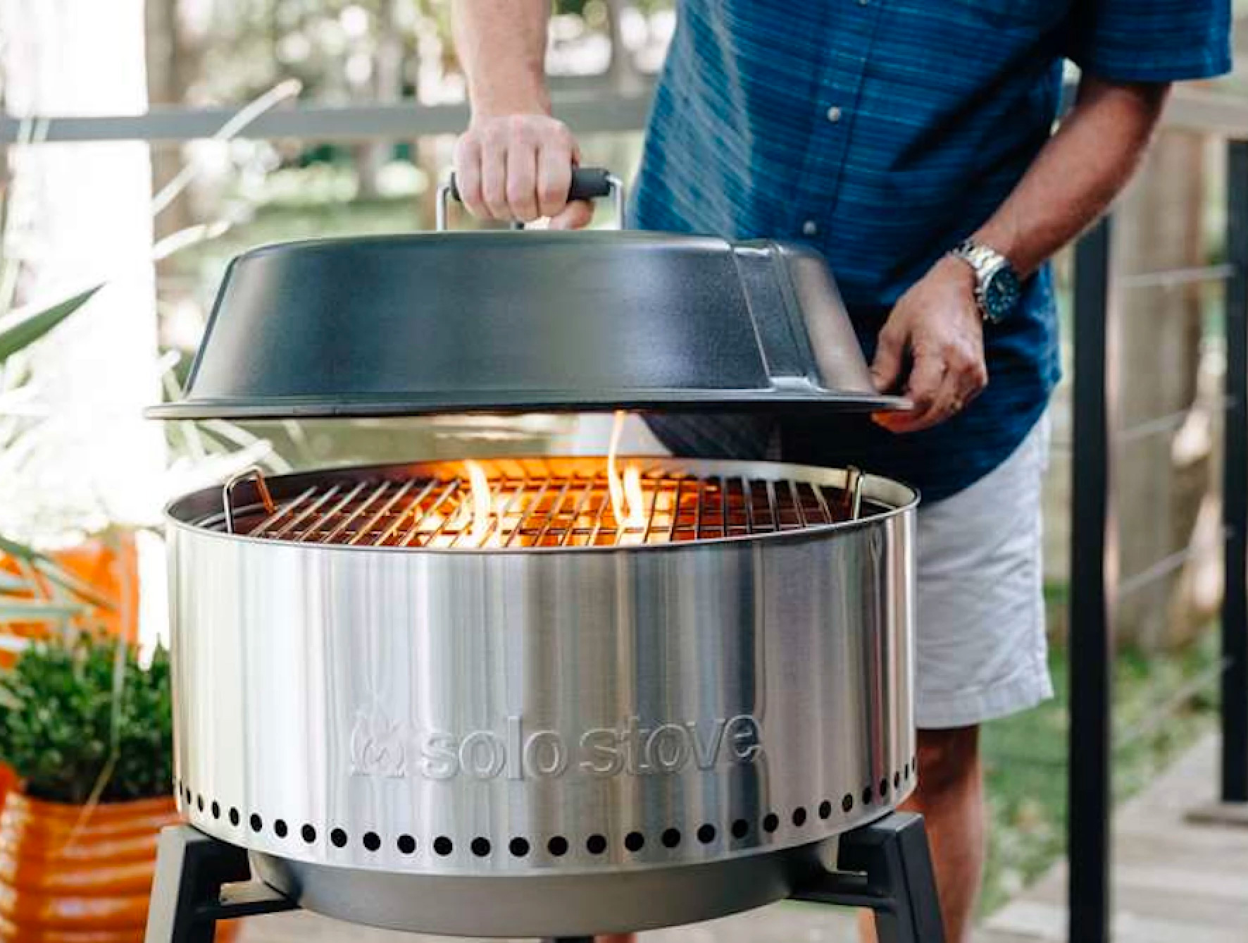 The Solo Stove Grill Burns Clean at werd.com