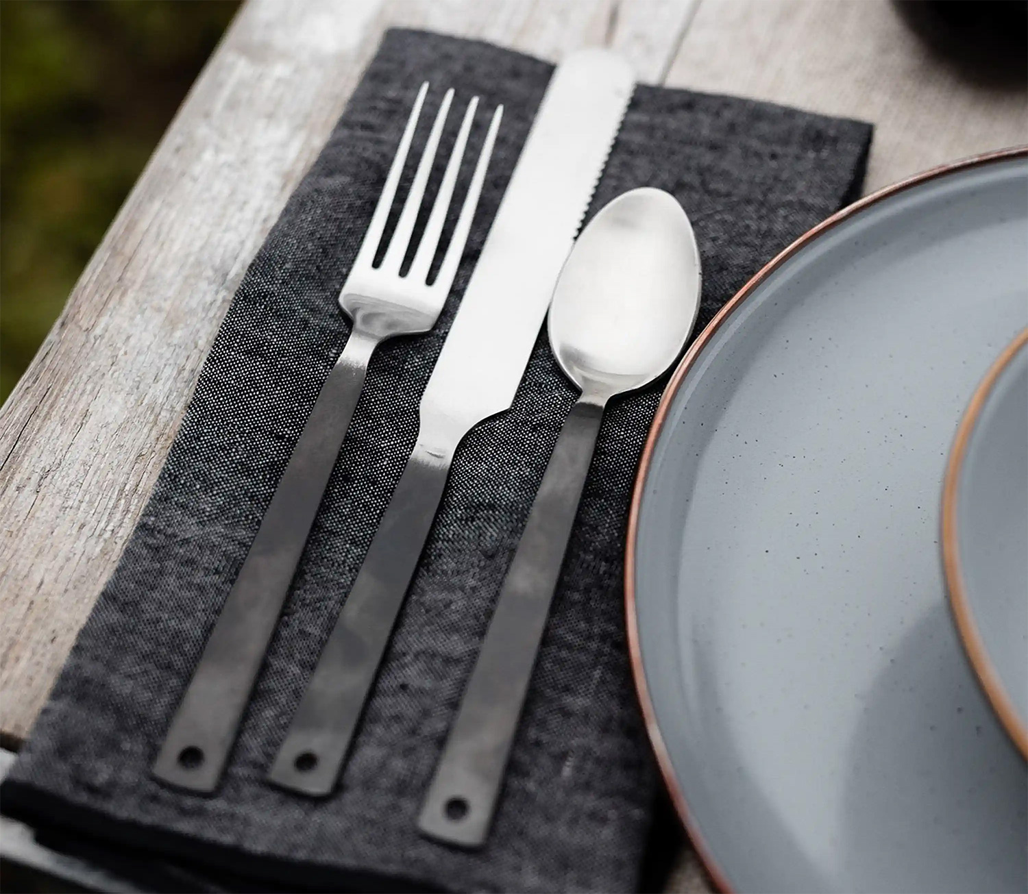 Eat Right At Home Or Away with Barebones' Flatware Set at werd.com