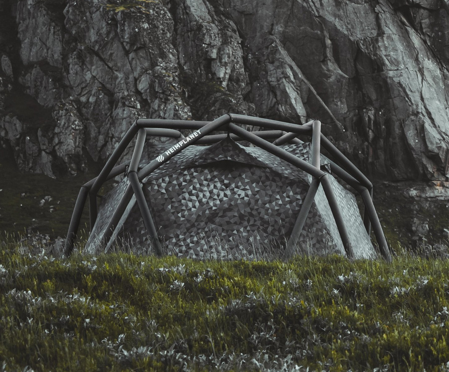 Heimplanet Offers Inflatable Cave Tent In Limited Camo Colorway at werd.com