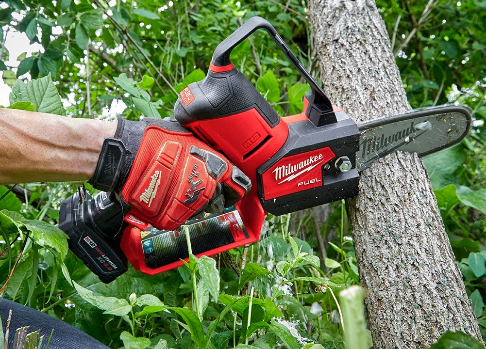 Prune Like a Pro with this Milwaukee Mini-Chainsaw at werd.com