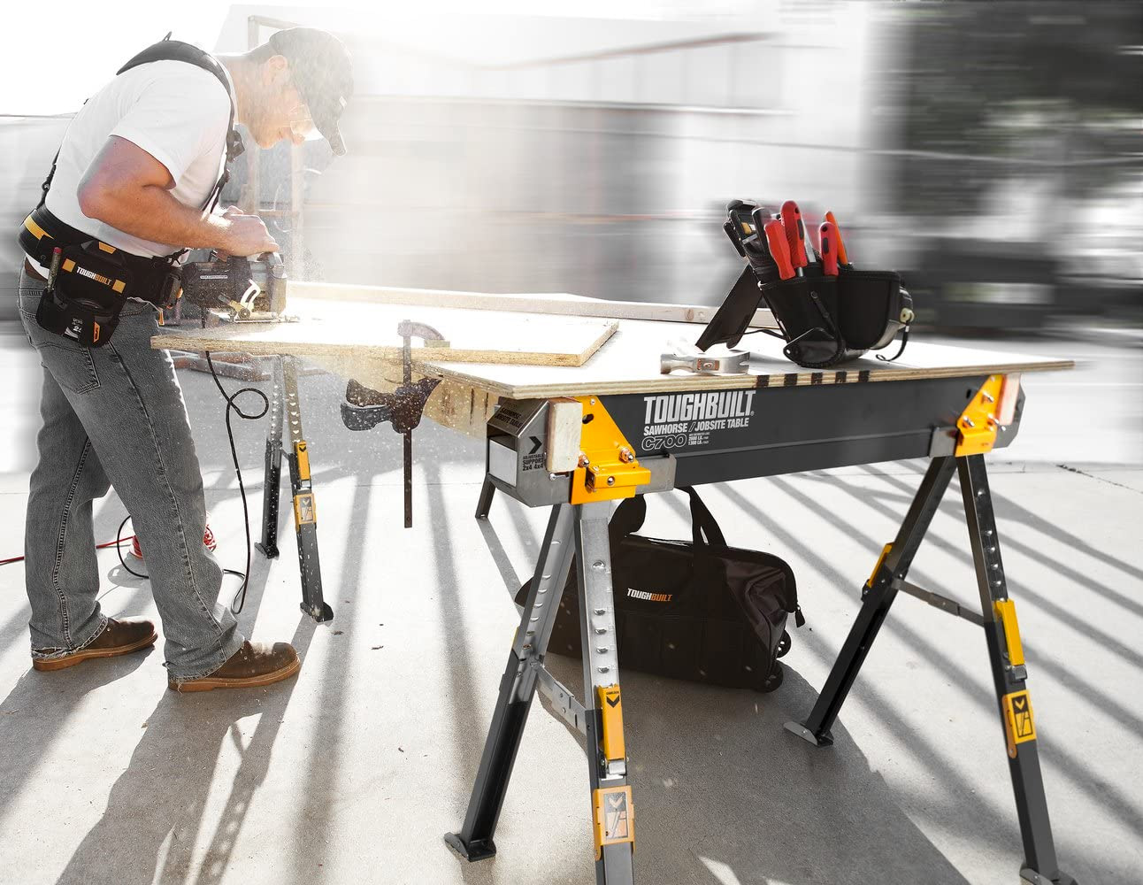 Let These Adjustable Sawhorses Handle the Heavy Work at werd.com