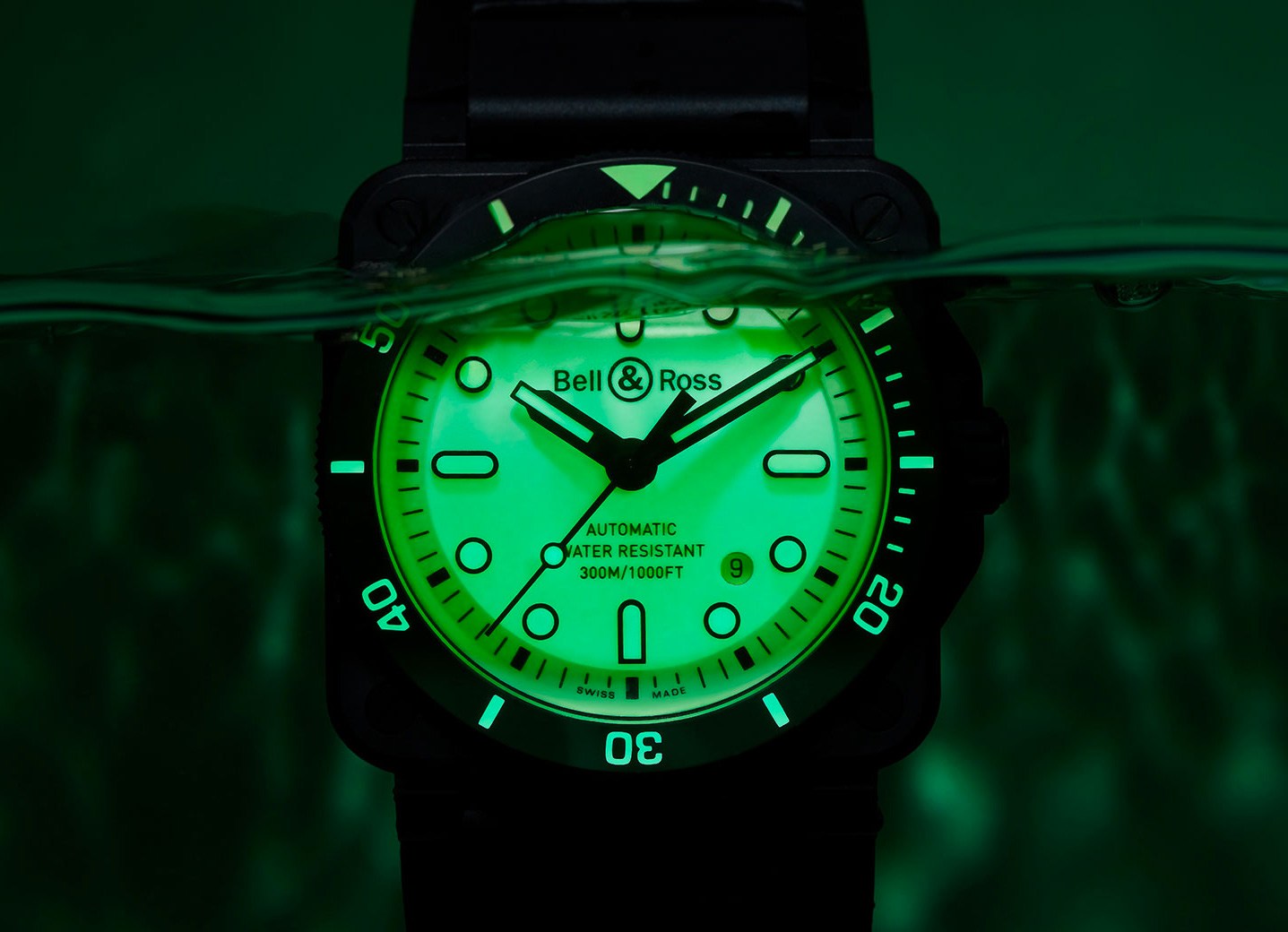Bell & Ross Light Up the Deep with Luminescent Diver at werd.com