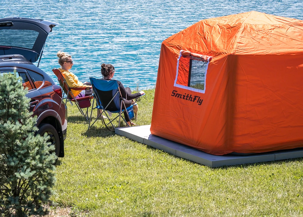 This Inflatable Tent Gets You Up Off The Ground at werd.com