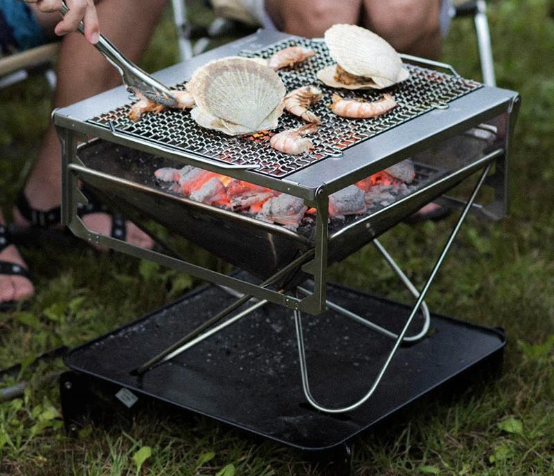Light It Up & Chill with the Takibi Fire & Grill at werd.com