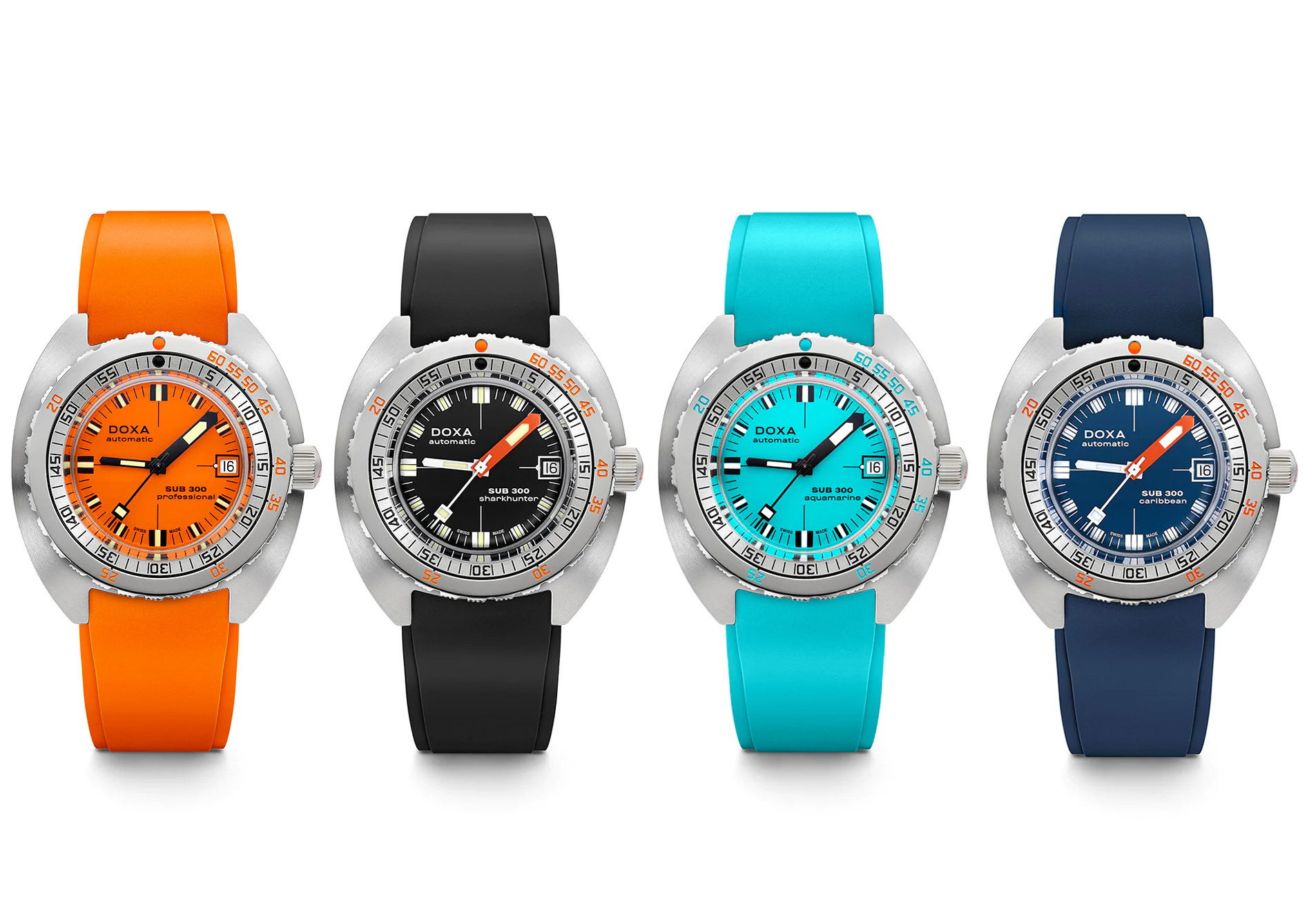 Classic Doxa Diver Gets Splashed with Color at werd.com