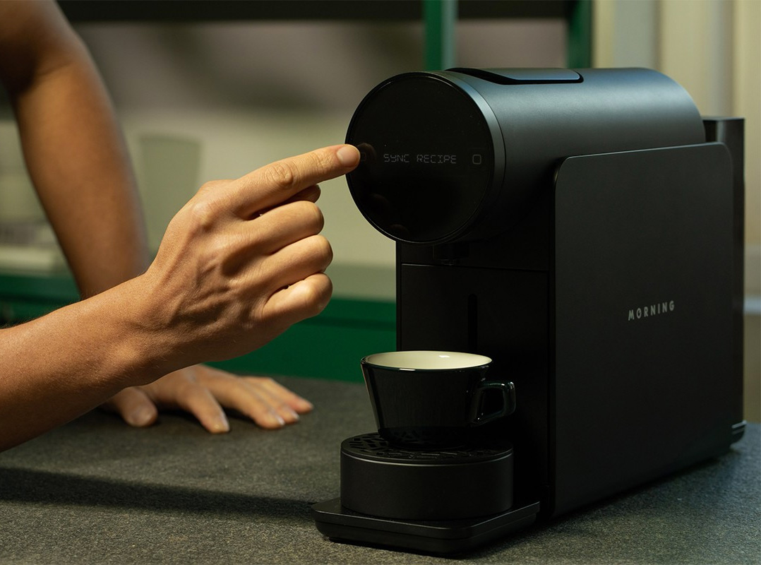 The Morning Machine Makes Barista-Quality Coffee with Capsules at werd.com