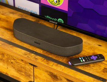 Stream in 4K UHD with Roku's Compact Streambar Speaker