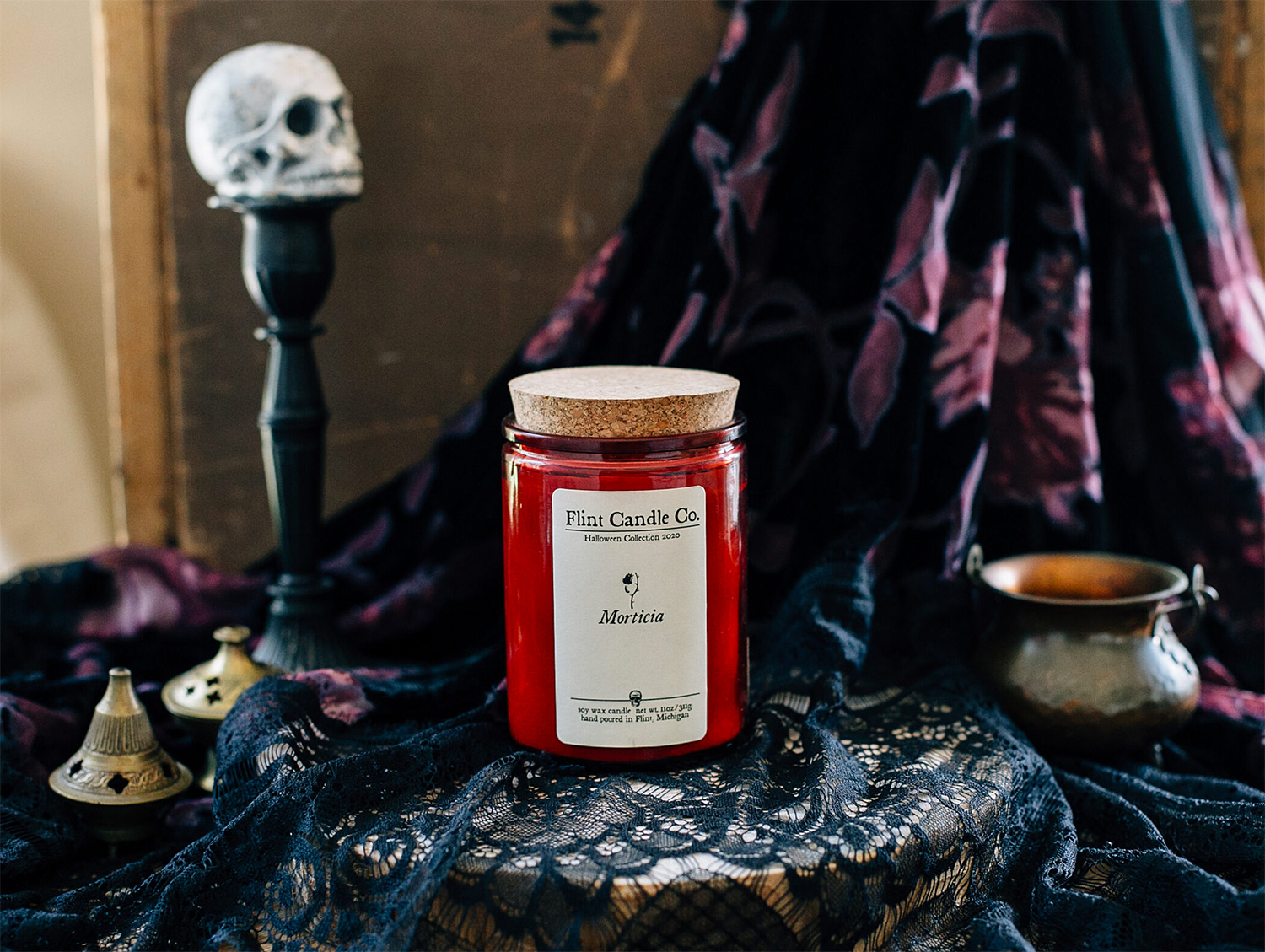 Set the Halloween Mood with Creepy Handmade Candles at werd.com