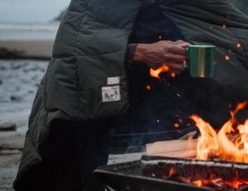 Snow Peak & Rumpl Create Fire-Resistant Camp Blanket