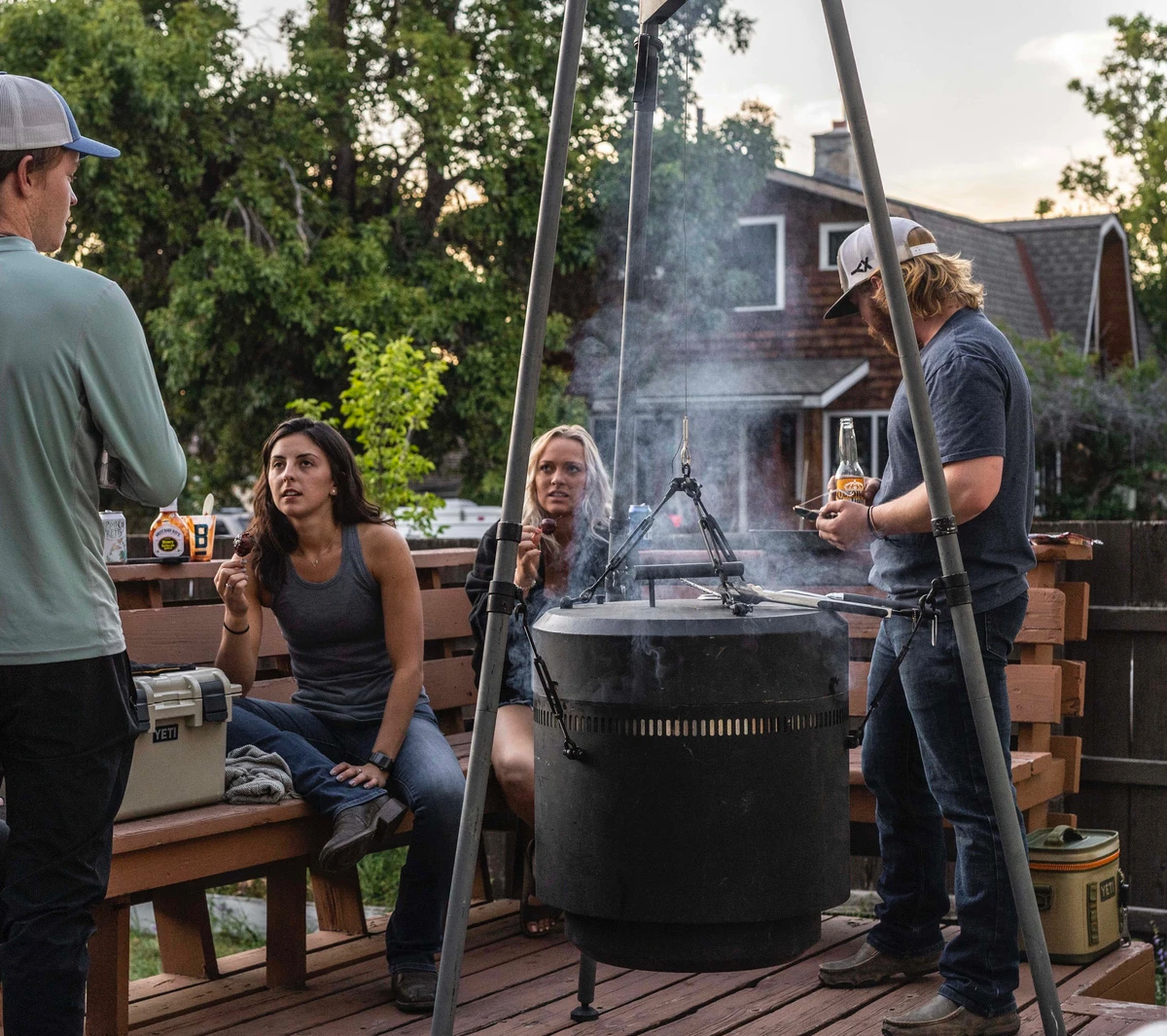 Grill, Smoker & Fire Pit In One: The Burch Barrel at werd.com