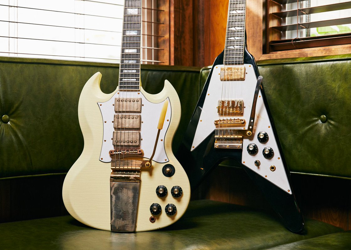 Gibson Unveils Jimi Hendrix Flying V & SG Custom Guitars at werd.com