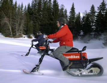 Shred the Powder on Your Electric Moonbike