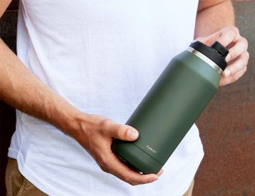 Refreshing Glass-Lined Water Bottles From Purist