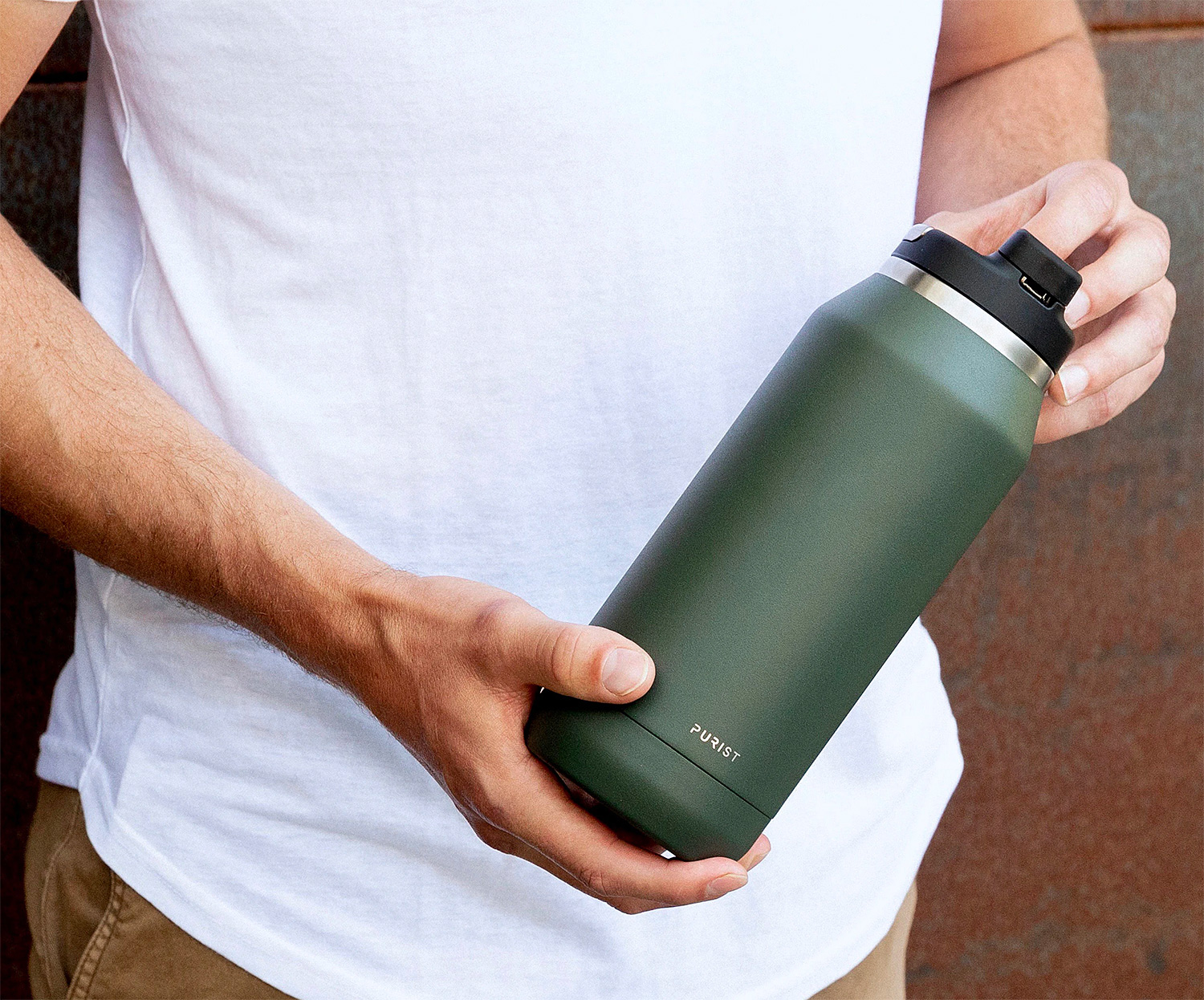 Refreshing Glass-Lined Water Bottles From Purist at werd.com