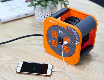 This Cord Reel Gives You Power & Plugs from 25-Feet
