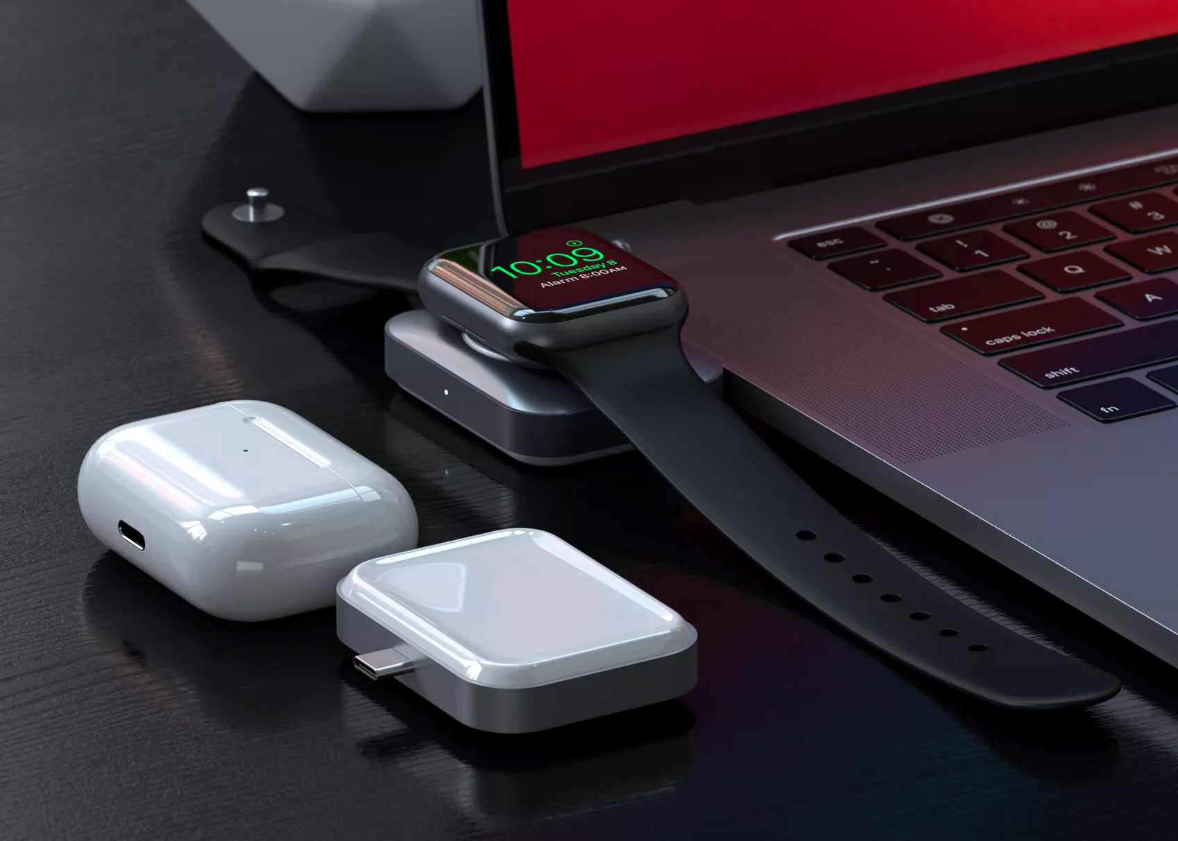 This USB-C Qi Charger is Compact & Cordless at werd.com
