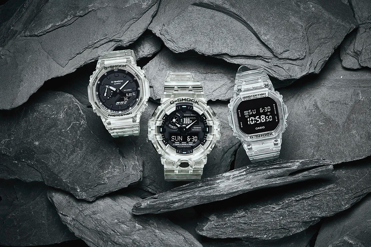 Casio Makes a Clear Case for Its Most Iconic G-Shocks at werd.com