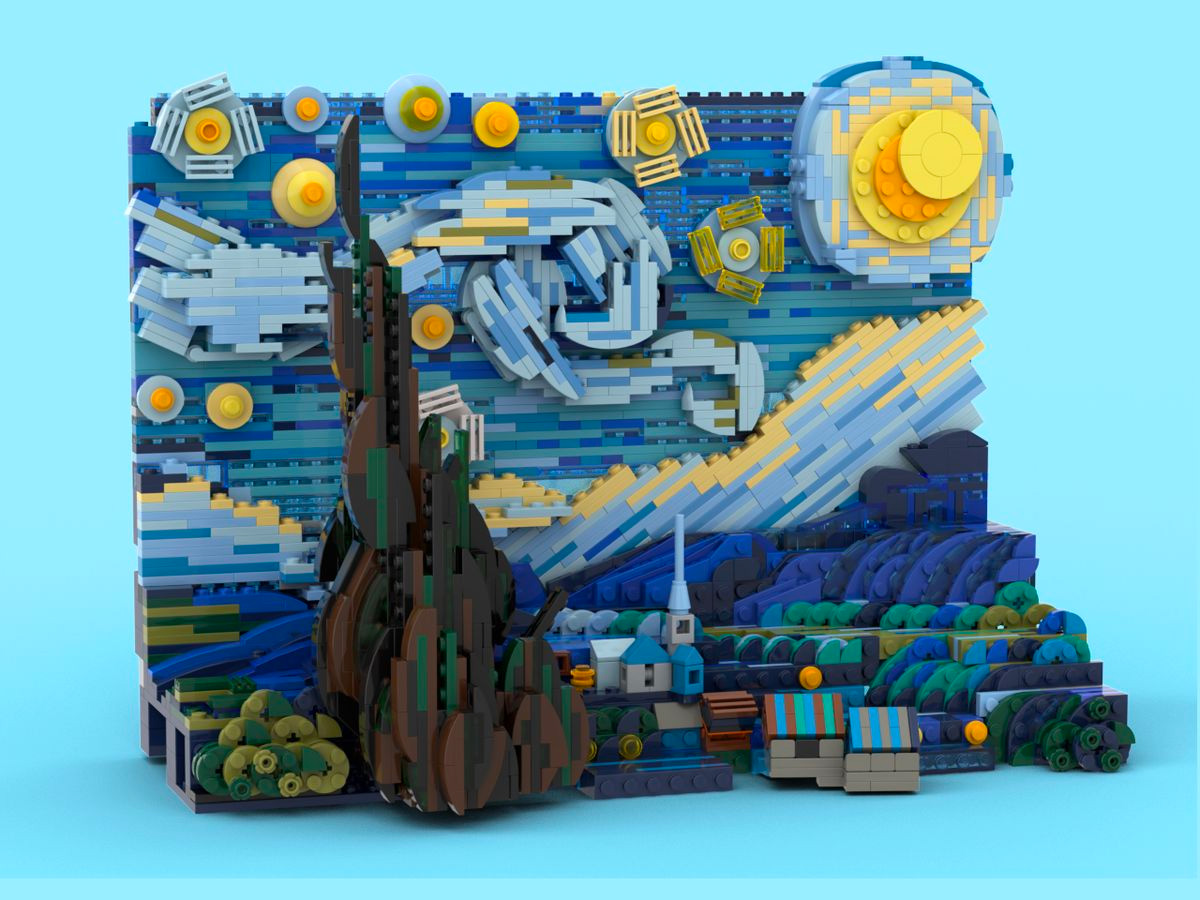 Lego Celebrates Van Gogh with Starry Night Set at werd.com