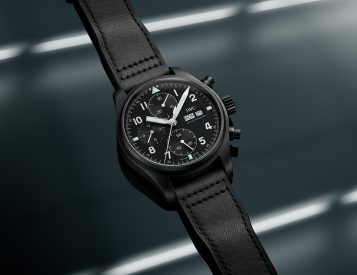 IWC Re-Created Its Classic 3705 Pilot's Watch in Black Ceratanium
