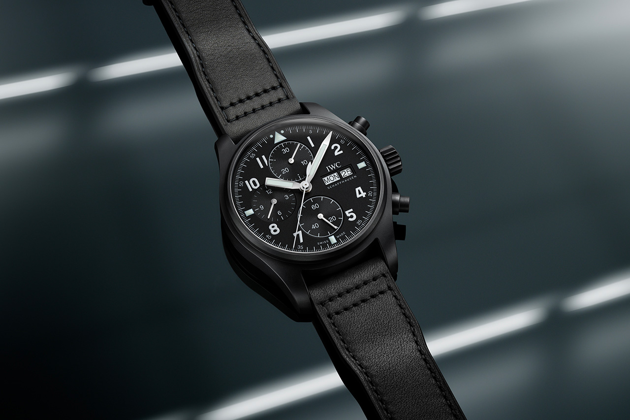 IWC Re-Created Its Classic 3705 Pilot's Watch in Black Ceratanium at werd.com