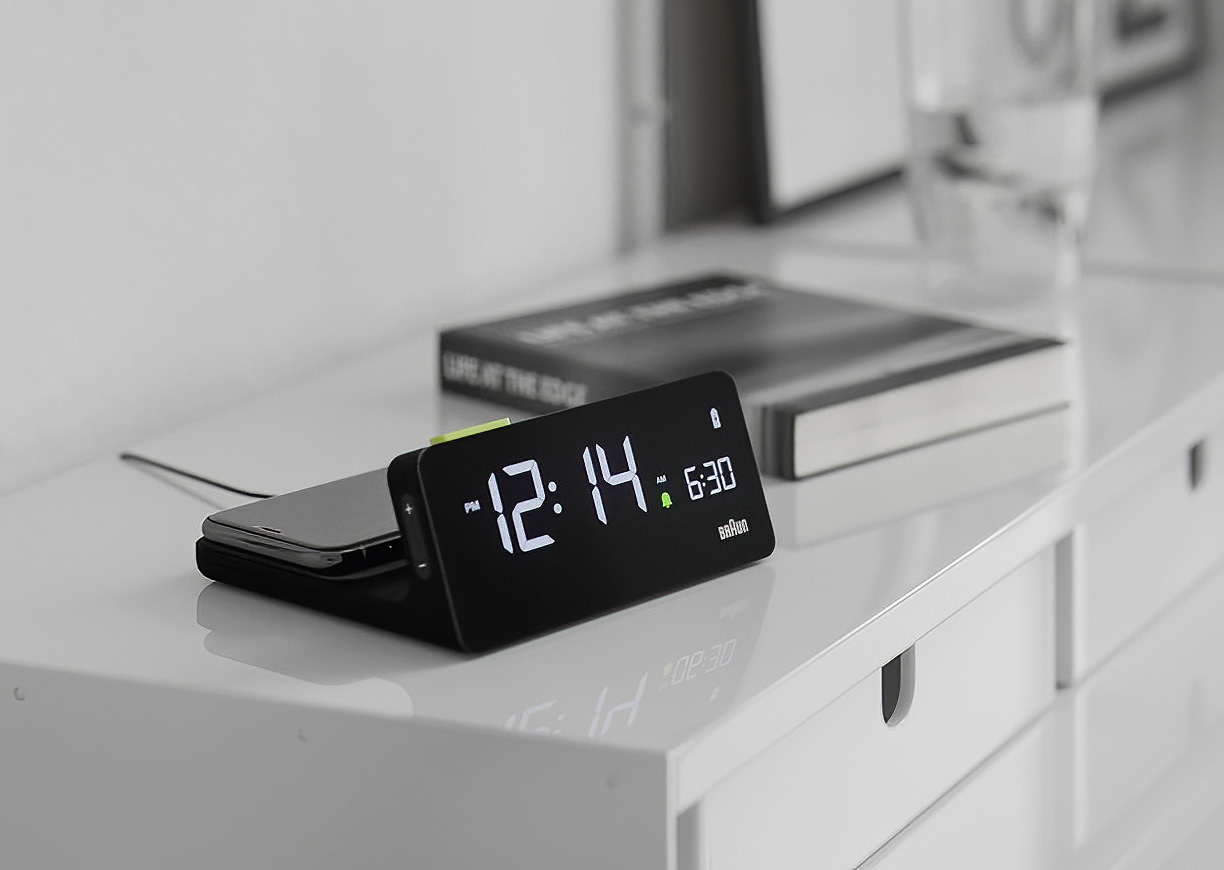 Braun's BC21 is your Alarm Clock & Qi Charger In One at werd.com