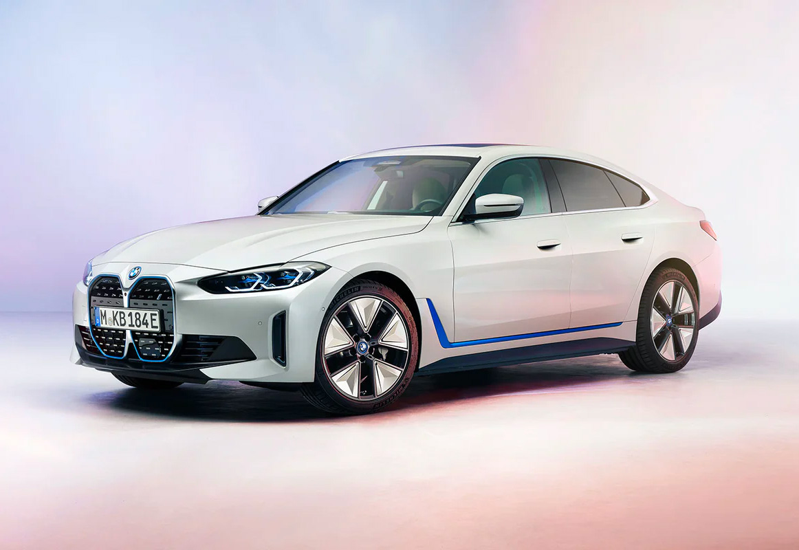BMW Introduces 530-HP i4 Electric Sedan at werd.com