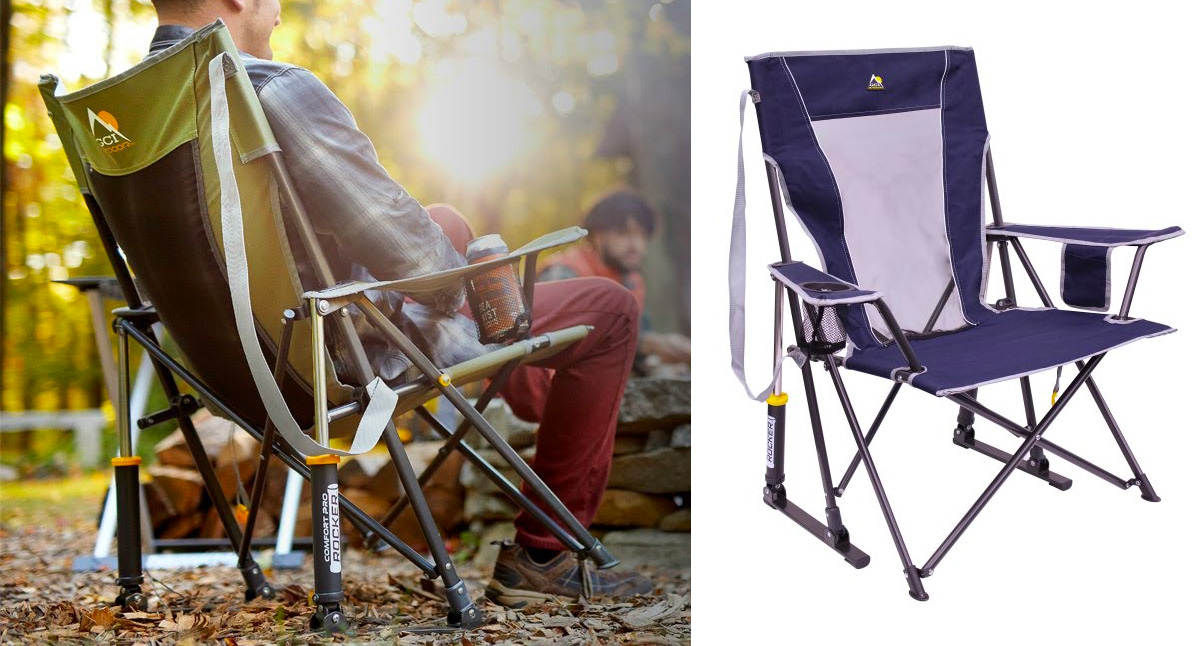 This Spring-Loaded Camp Chair Really Rocks at werd.com