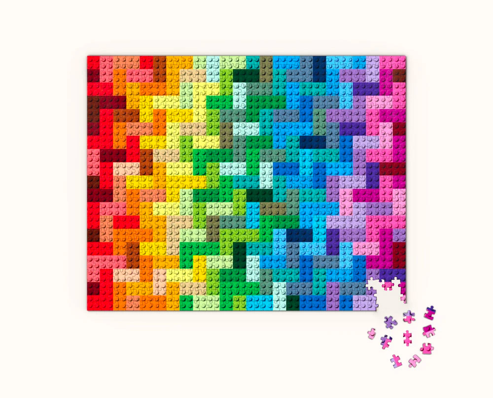 The LEGO Rainbow Brick Puzzle is a Tough 1000 at werd.com