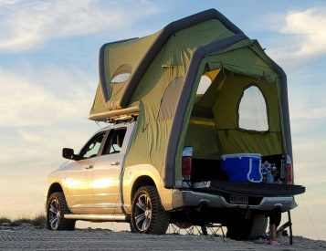 This Inflatable Rooftop Tent Turns Your Truck into a Camper