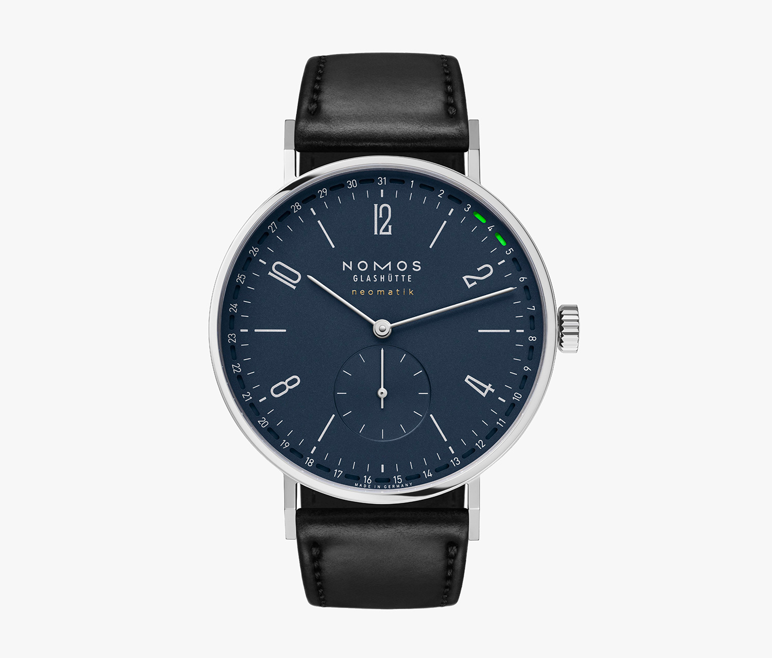 The Tangente Update from NOMOS Tracks the Date in Day-Glo at werd.com