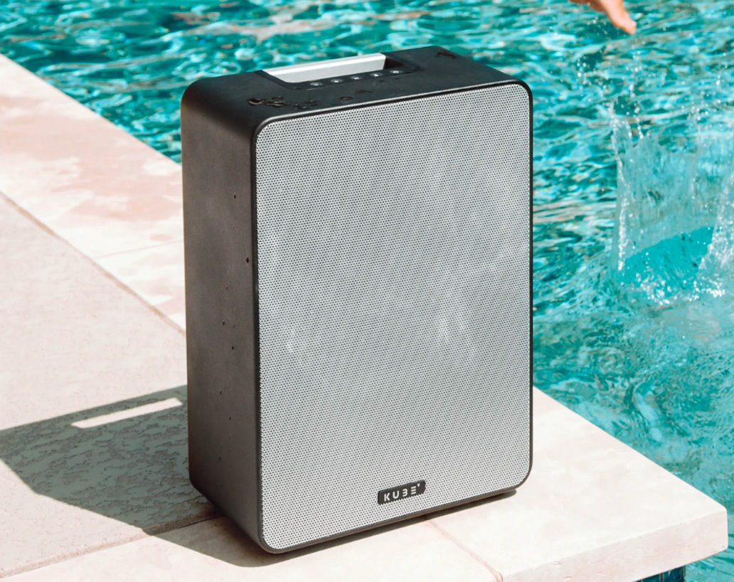 The Kube4 Speaker Delivers Big Sound Indoors & Out at werd.com