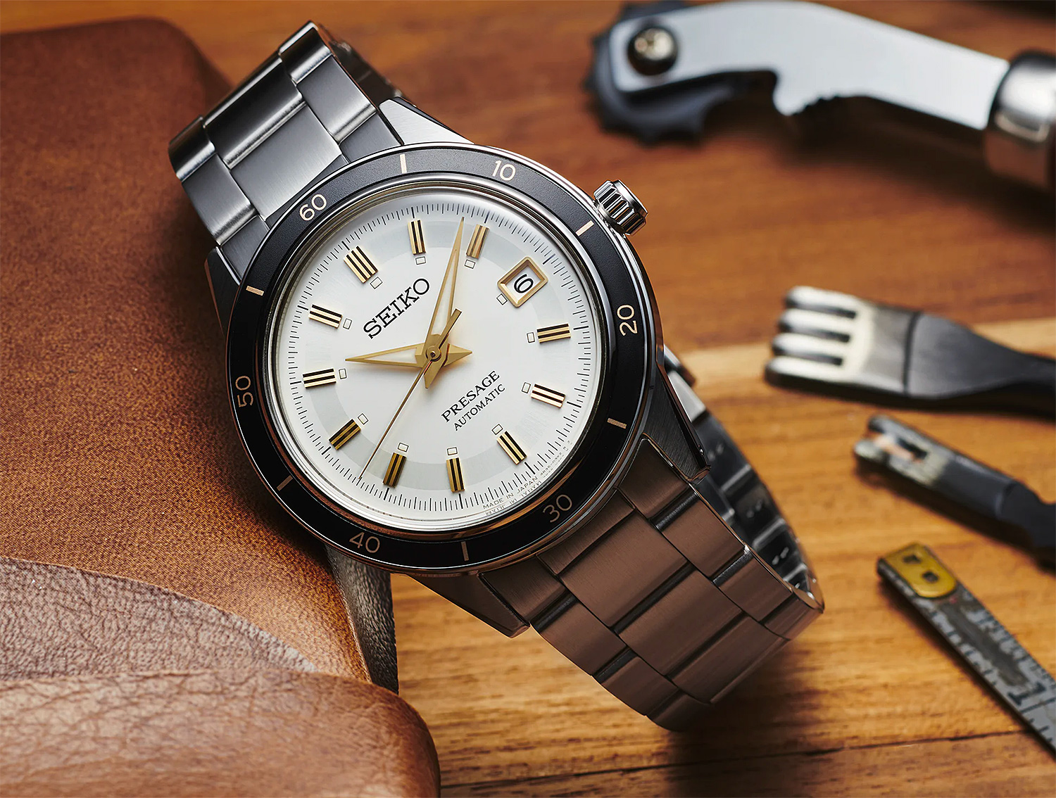 Seiko's Presage Style 60s Channels Mid-Century Cool at werd.com
