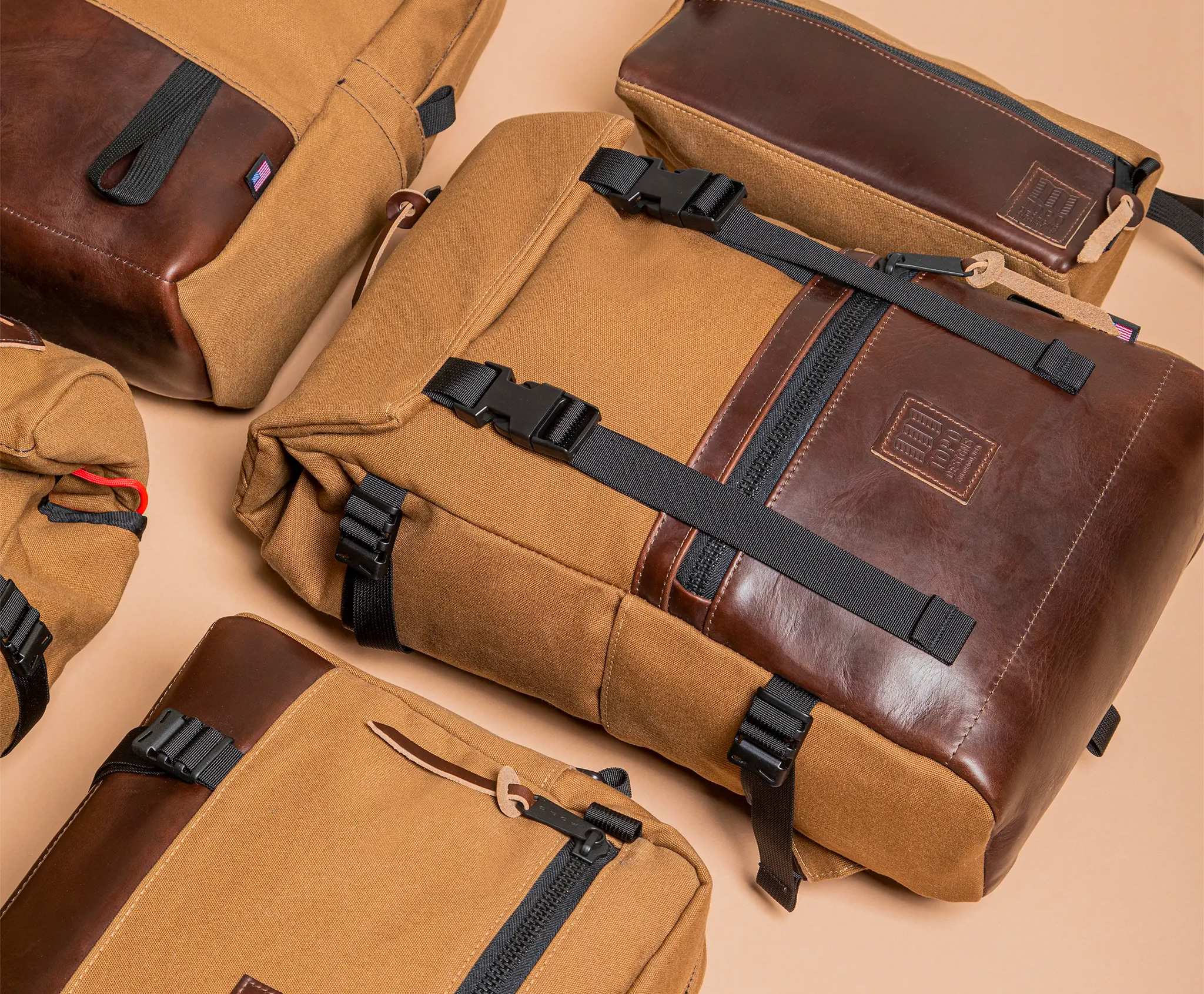 Topo Designs' Heritage Canvas Collection Highlights Horween Leather at werd.com